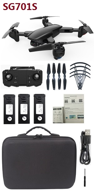 ZLRC SG701S RC drone with portable bag and 3 battery RTF