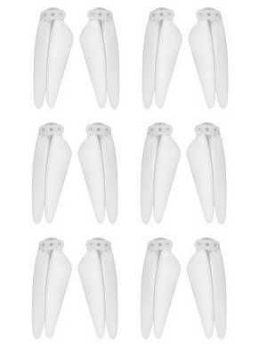 SG906 MAX Xinlin X193 CSJ X7 Pro 3 Max RC drone quadcopter spare parts main blade White 3sets