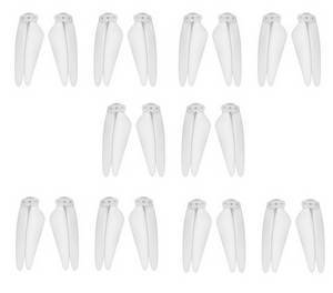 SG906 MAX Xinlin X193 CSJ X7 Pro 3 Max RC drone quadcopter spare parts main blade White 5sets
