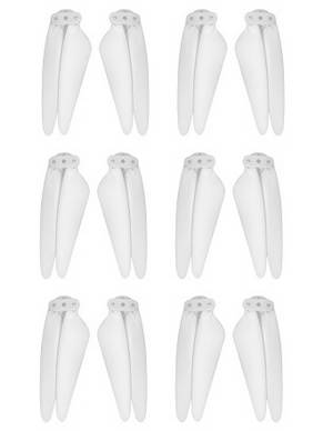 SG906 PRO 2 Xinlin X193 CST X7 Pro2 RC drone quadcopter spare parts main blades 3sets (White)