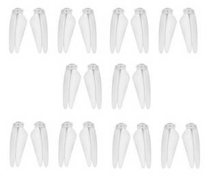 SG906 PRO 2 Xinlin X193 CST X7 Pro2 RC drone quadcopter spare parts main blades 5sets (White)