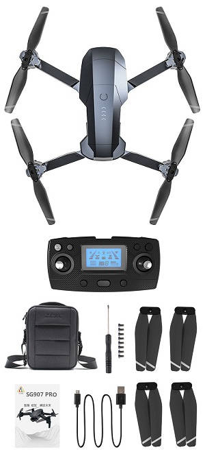 ZLRC ZLL SG907 Pro RC drone with portable bag and 1 battery, RTF