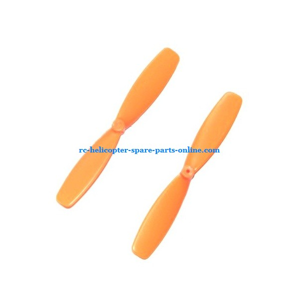 SH 6047 6047A UFO 6047B Scorpion spare parts main blades (Upper + Lower Yellow)