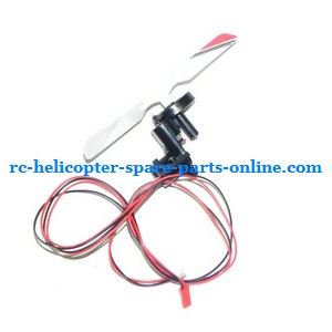 SH 8828 8828-1 8828L RC helicopter spare parts tail blade + tail motor + tail motor deck (Red)
