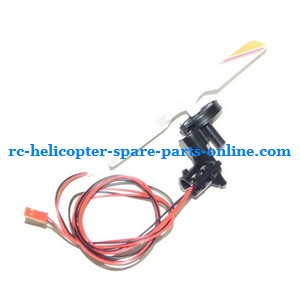 SH 8828 8828-1 8828L RC helicopter spare parts tail blade + tail motor + tail motor deck (Yellow)
