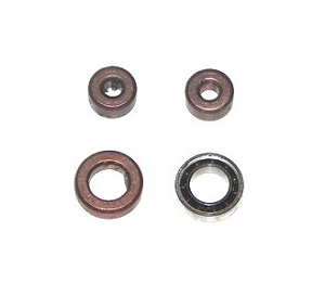 MJX T04 T604 RC helicopter spare parts bearing set (2x big + 2x small) 4pcs