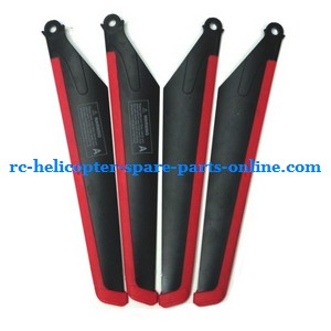 MJX T10 T11 T610 T611 RC helicopter spare parts main blades (Red-Black)