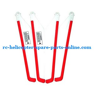 MJX T10 T11 T610 T611 RC helicopter spare parts main blades (Red-White)