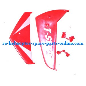 MJX T10 T11 T610 T611 RC helicopter spare parts tail decorative set (Red V2)