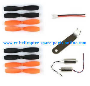 JJRC JJPRO T1 T2 RC quadcopter spare parts main blades*2+ motor*2 + wrench + power wire line