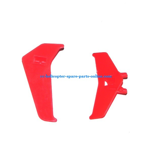 MJX T20 T620 RC helicopter spare parts tail decorative set (Red)