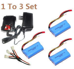 MJX T23 T623 RC helicopter spare parts 1 to 3 charger set + 3*7.4V 2200mAh battery set