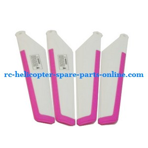 MJX T23 T623 RC helicopter spare parts main blades (2x upper + 2x lower) pink color