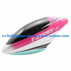MJX T23 T623 RC helicopter spare parts head cover pink color