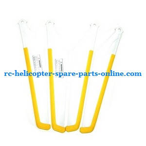 MJX T40 T640 T40C T640C RC helicopter spare parts main blades (2x upper + 2x lower) yellow color