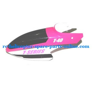 MJX T40 T640 T40C T640C RC helicopter spare parts head cover pink