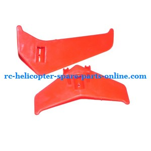 MJX T54 T654 RC helicopter spare parts tail decorative set (Red)