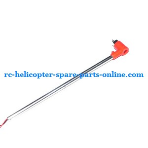 MJX T54 T654 RC helicopter spare parts tail big pipe + tail motor + tail motor deck (Red)