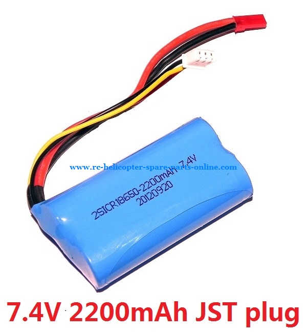 Upgrade battery 7.4V 2200Mah with red JST plug