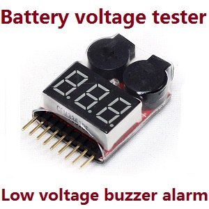 Lipo battery voltage tester low voltage buzzer alarm (1-8s) for mjx b20