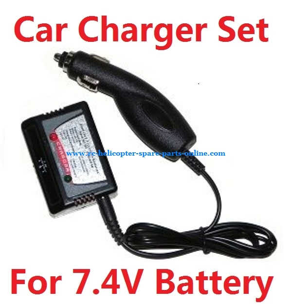 Car charger + Balance charger box for 7.4V battery (Set) # 7.4V