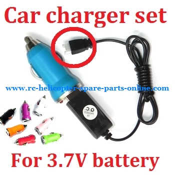 Car charger + USB charger wire for 3.7V battery (Set) # 3.7V (V1)