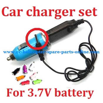 Car charger + USB charger wire for 3.7V battery (Set) # 3.7V (V3)