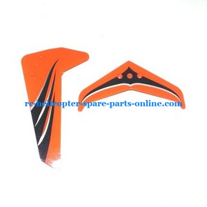 UDI U12 U12A helicopter spare parts tail decorative set orange color
