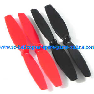 UDI RC U27 quadcopter spare parts main blades propellers (Red-Black)