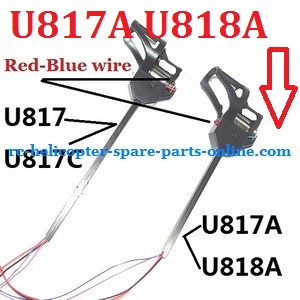 UDI RC U818A U817 U817A U817C UFO spare parts motor module set (Shorter one for U817A U818A with Red-Blue motor wire)