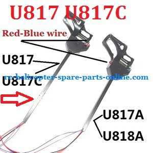 UDI RC U818A U817 U817A U817C UFO spare parts motor module set (Longer one for U817 U817C with Red-Blue motor wire)
