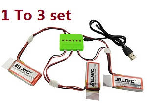 UDI U919 U919A WIFI Quadcopter spare parts 1 to 3 charger set + 3*450mAh battery set