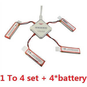 UDI U819A U819 RC Quadcopter spare parts 1 to 4 charger box set + 4*batteries set