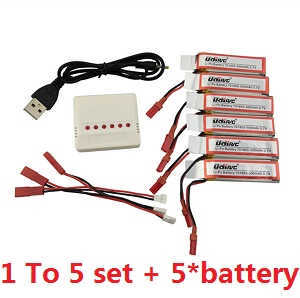 UDI U819A U819 RC Quadcopter spare parts 1 to 5 charger box set + 5*batteries set