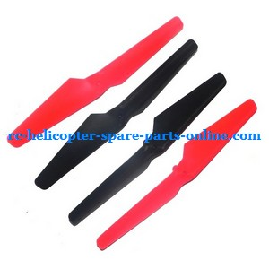 Wltoys WL V262 UFO Quadcopter spare parts main blades (Forward + Reverse)(Red + Black)