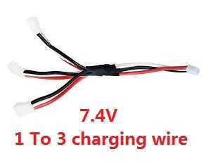 Wltoys WL V323 quadcopter spare parts 1 To 3 charging wire 7.4V