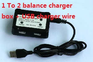 Wltoys WL V393 quadcopter spare parts 1 to 2 balance charger + USB