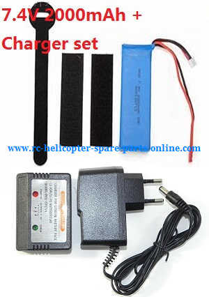 Wltoys WL V656 V666 quadcopter spare parts battery (7.4V 2000mAh) + charger + balance charger box