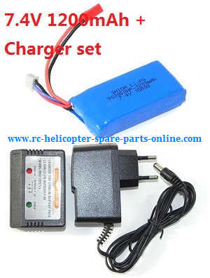 Wltoys WL V656 V666 quadcopter spare parts battery (7.4V 1200mAh) + charger + balance charger box