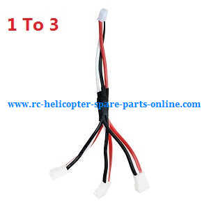 Wltoys WL V656 V666 quadcopter spare parts 1 To 3 charger wire plug