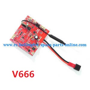 Wltoys WL V656 V666 quadcopter spare parts receive PCB board (V666)