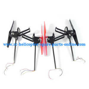 Wltoys WL V656 V666 quadcopter spare parts side bar and motor set (4pcs)
