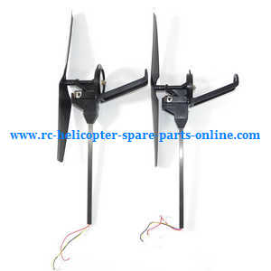 Wltoys WL V656 V666 quadcopter spare parts Black blades side bar and motor set (Forward and Reverse)
