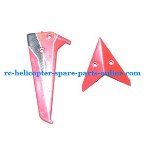 WLtoys WL V757 helicopter spare parts tail decorative set (Red)