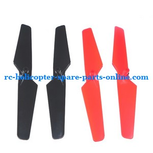 WLtoys WL V929 spare parts main blades set Black(A+B) + Red(A+B)