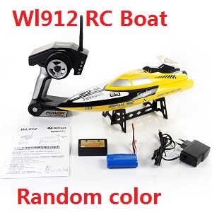 Wltoys WL WL912 RC Speed Boat (Random color)
