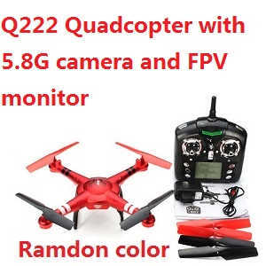 Wltoys WL DQ222-G Q222-G RC quadcopter with 5.8G camera and FPV monitor