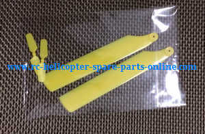 WLtoys WL V966 RC helicopter spare parts main blades + tail blade (Yellow)