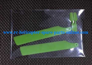 WLtoys WL V977 RC helicopter spare parts main blades + tail blade (Green)
