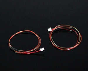 WLtoys WL V977 RC helicopter spare parts tail motor wire plug 2pcs